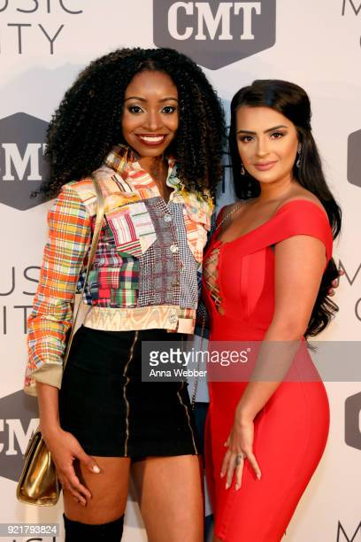 MTV's Florabama cast members Candace Rice and Nilsa Prowant attend CMT's Music City premiere party on February 20 2018 in Nashville Tennessee