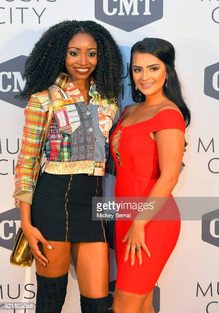 MTV's Floribama Shores cast members Candace Rice and Nilsa Prowant attend CMT's Music City Premiere Party at The Back Corner on February 20 2018 in...