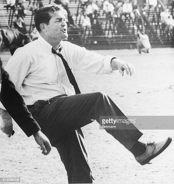 SMU's football coach Hayden Fry appears to have gotten quite a kick out of Texas' touchdown as the Longhorns rolled up a 70 victory over SMU