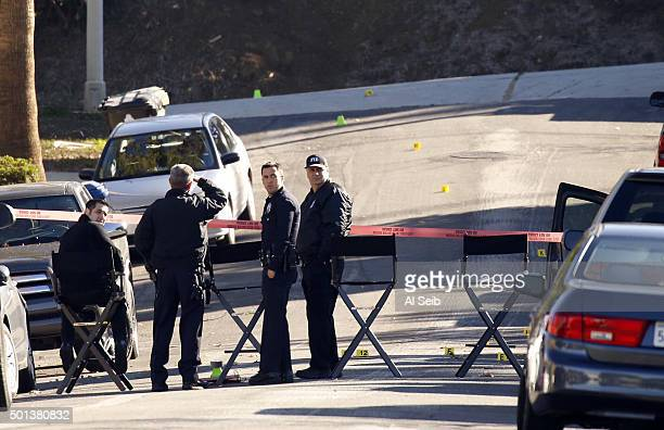 HEIGHTS CA DECEMBER 14 2015 LAPD's Force Investigation Division continues inspection of the scene where an armed man who allegedly confronted an...