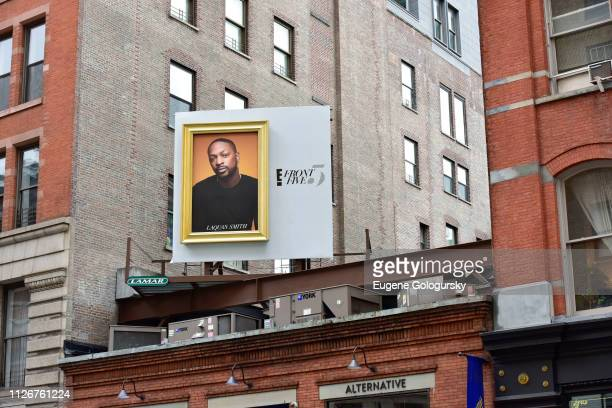 E's Front Five Soho billboard for NYFW including LaQuan Smith on February 13 2019 in New York City