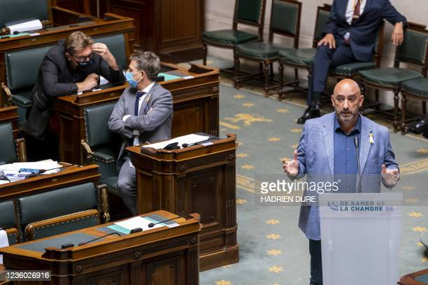 S Gaby Colebunders pictured at a plenary session of the Chamber at the Federal Parliament in Brussels, Thursday 21 October 2021. BELGA PHOTO HADRIEN...