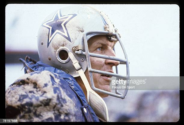 CIRCA 1970's Bob Lilly of the Dallas Cowboys on the side line during a circa mid 1970's NFL game Lilly played for the Cowboys from 196174