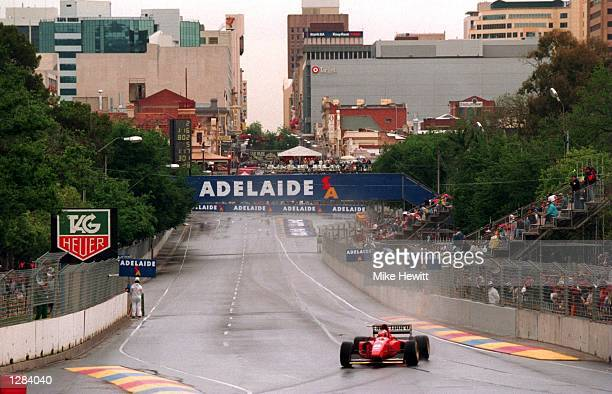 FERRARI's GERHARD BERGER DURING PRACTICE TODAY FOR THE AUSTRALIAN GRAND PRIX IN ADELAIDE Mandatory Credit Mike Hewitt/ALLSPORT