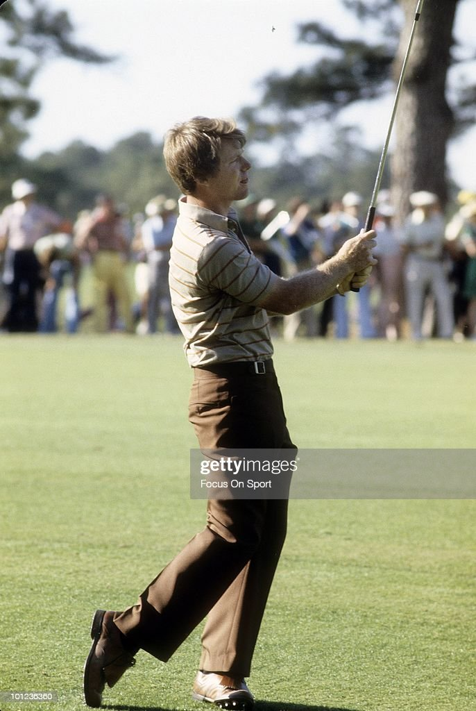 CIRCA 1980's: Golfer Tom Watson in action circa early 1980's during tournament play.