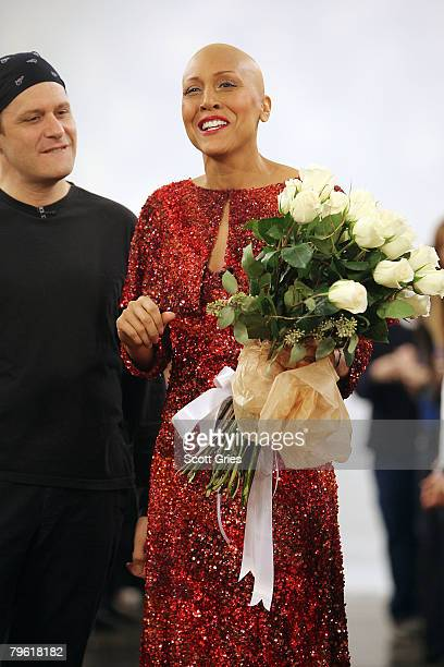 ABC's Good Morning America coanchor Robin Roberts who was recently diagnosed with breast cancer and completed chemotherapy and designer Isaac Mizrahi...