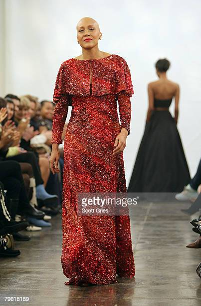 ABC's Good Morning America coanchor Robin Roberts who was recently diagnosed with breast cancer and completed chemotherapy walks the runway during...
