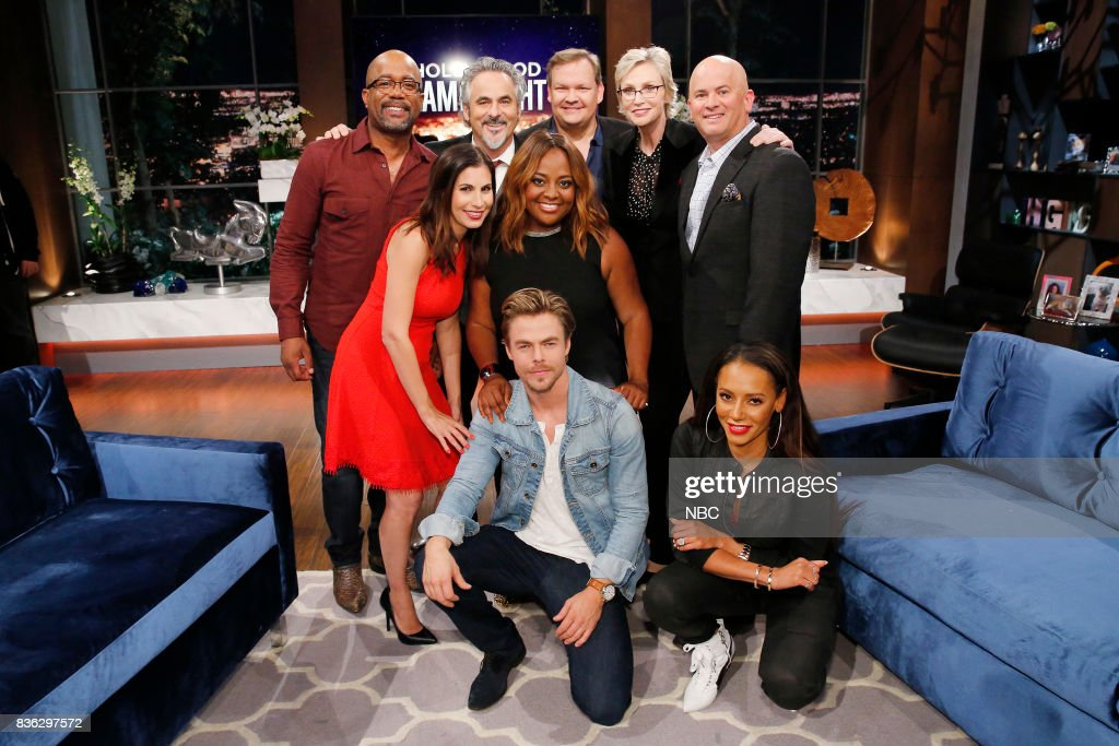 NIGHT -- 'HGN's Got Talent' Episode 504 -- Pictured: (Back Row l-r) Darius Rucker, David Feherty, Andy Richter, Jane Lynch, Contestant, (Middle Row l-r) Contestant,Sherri Shepherd, (Front Row l-r) Derek Hough, Mel B --