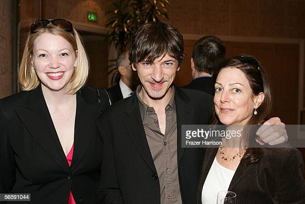 HBO's Gretchen Enders actor John Hawkes and HBO VP of Feature Casting HBO Films Carrie Frazier attend the AFI Awards Luncheon 2005 held at the the...