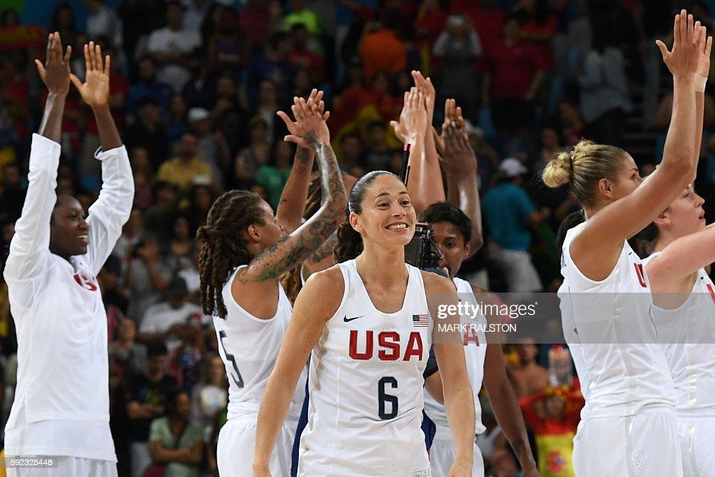 BASKETBALL-OLY-2016-RIO-USA-ESP : News Photo