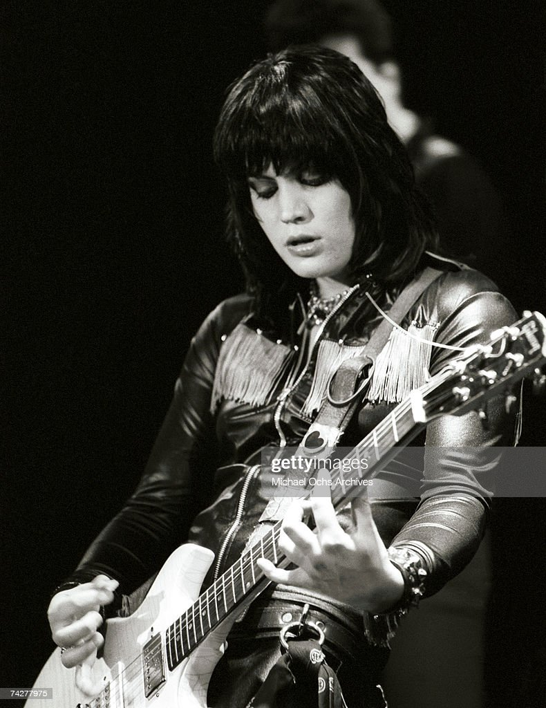 LOS ANGELES - EARLY 1980's: Guitarist and singer Joan Jett of the rock band 'Joan Jett and the Blackhearts' performs on stage in Los Angeles in the early 1980's.