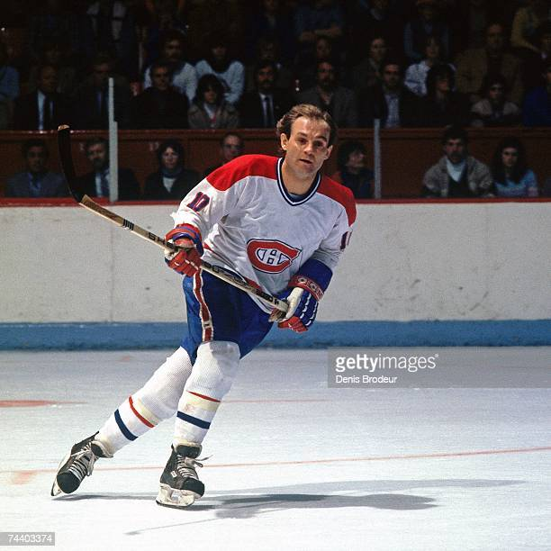 MONTREAL QC 1980's Guy Lafleur of the Montreal Canadiens skates during an NHL game in Montreal Canada