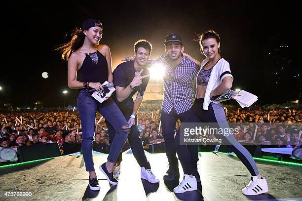 S Hanli Hoefer, Alan Wong, Chris Schnieder and Yassi Pressman appear on-stage at the 1st edition of the MTV Music Evolution 2015 was staged at...