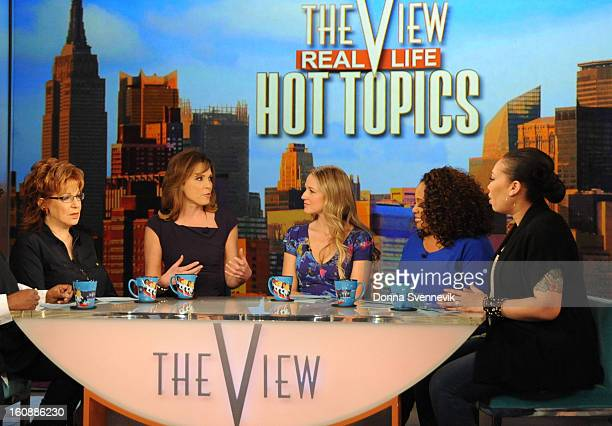 THE VIEW ESPN's Hannah Storm discusses the burns she sustained in a backyard BBQ grill explosion on THE VIEW 2/5/13 airing on the ABC Television...