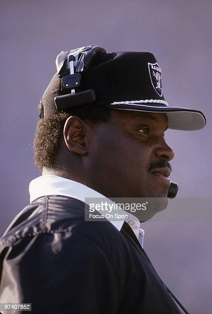 LOS ANGELES CA CIRCA 1990's Head Coach Art Shell of the Los Angeles Raiders watches the action from the sidelines during an NFL football game circa...