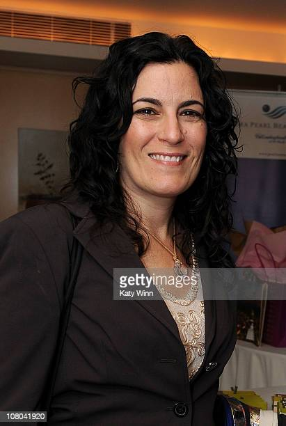 HBO's Head of Casting Carrie Frazier poses at the 2011 DPA Golden Globes Gift Suite at the L'Ermitage Hotel on January 14 2011 in Beverly Hills...