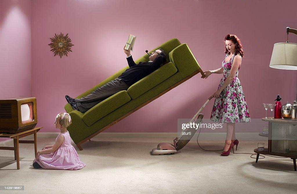 1950's housework : Stock Photo