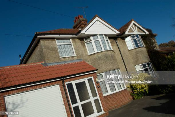 1930's housing and front drive Ipswich UK