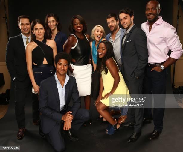 ABC's 'How to Get Away with Murder' actors Matt McGorry Karla Souza Katie Findlay Alfie Enoch Viola Davis Liza Weil Aja Naomi King Charlie Weber Jack...
