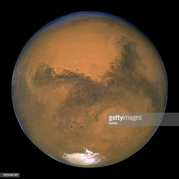 NASA's Hubble Space Telescope took this closeup of the red planet Mars when it was just 34840 miles away The picture was taken just 11 hours before...