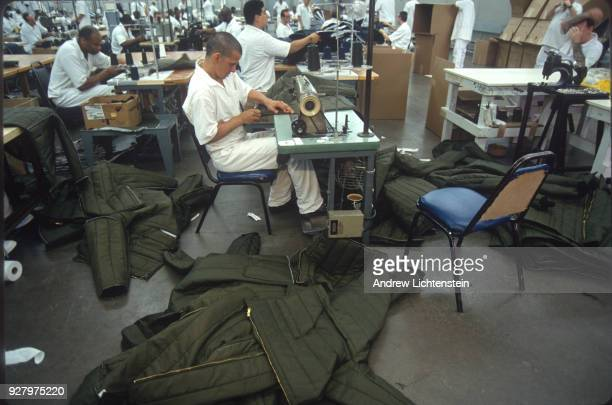 TEXAS CIRCA 1990's In almost all Texas state prisons prisoners work in various industries manufacturing goods used by the prison system or the state...