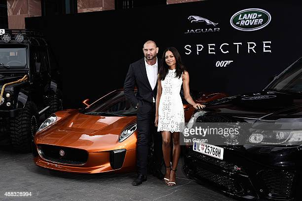 VIP's including Spectre cast members Naomie Harris and David Bautista attend starstudded event as Jaguar and Land Rover stunt vehicles make...