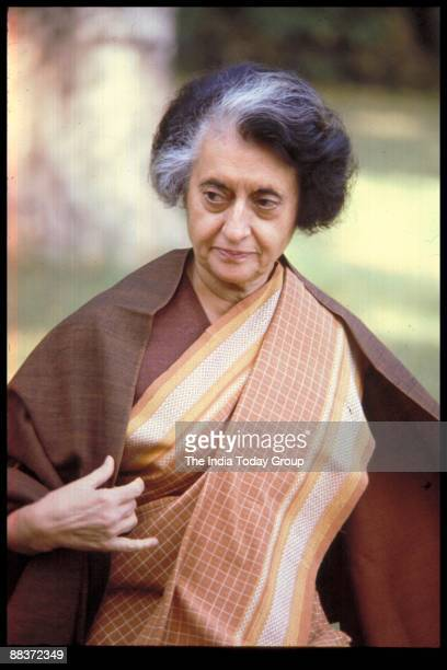 INDIA CIRCA 1970's Indira Gandhi walks in India