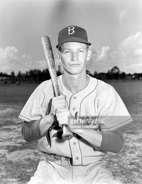 BEACH FL 1950's Infielder Don Hoak of the Brooklyn Dodgers poses for a portrait during Spring Training circa 1950's in Vero Beach Florida
