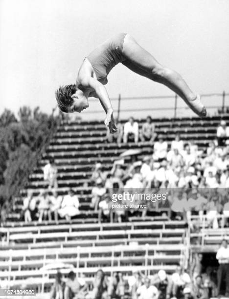GDR's Ingrid Kraemer pictured diving at the Olympic Games in Rome Italy 29 August 1960 | usage worldwide
