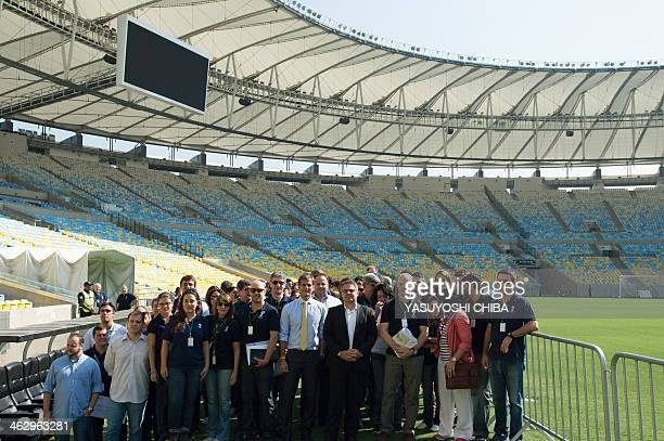 FIFA's inspection team and members of the 2014 World Cup local organizing committee visit Maracana stadium in Rio de Janeiro Brazil on January 16...