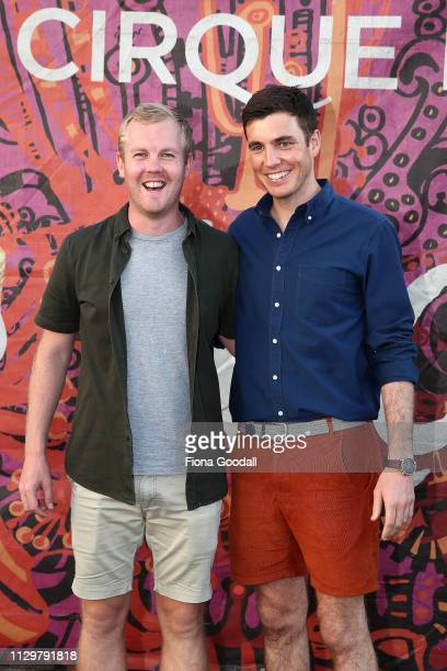 TVNZ's Jack Tame and Matty McLean attend opening night of Cirque du Soleil KOOZA on February 15 2019 in Auckland New Zealand