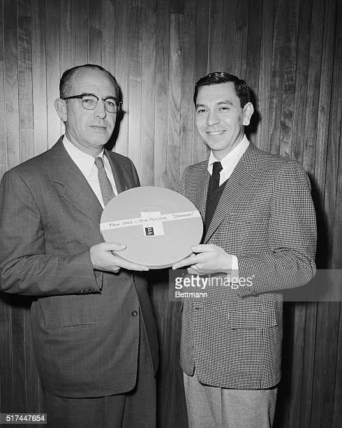NBC's Jack Webb seen here with William H Parker Chief of Los Angeles Police Department was a surprise witness at the California Judiciary Committee...