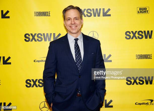 CNN's Jake Tapper attends CNN's Jake Tapper in conversation with Bernie Sanders during SXSW at Austin Convention Center on March 9 2018 in Austin...