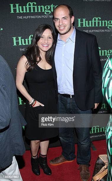 NY1's Jamie Shupak and guest attend the launch party for Huffington the new weekly iPad magazine for Huffington Post at the Gramercy Park Hotel...