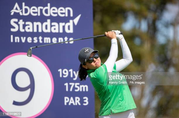 USA's Jane Park tees off at the 9th hole during day one of the Aberdeen Standard Investments Ladies Scottish Open at The Renaissance Club North...