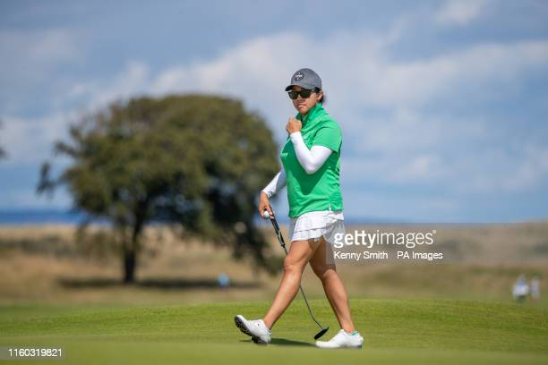 USA's Jane Park walks around the 8th green during day one of the Aberdeen Standard Investments Ladies Scottish Open at The Renaissance Club North...