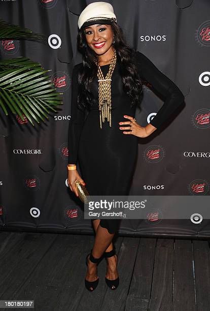 VH1's Janell Snowden poses for a photo as Janelle Monae and Target celebrate the release of Monae's album The Electric Lady at Pier 84 on September 9...