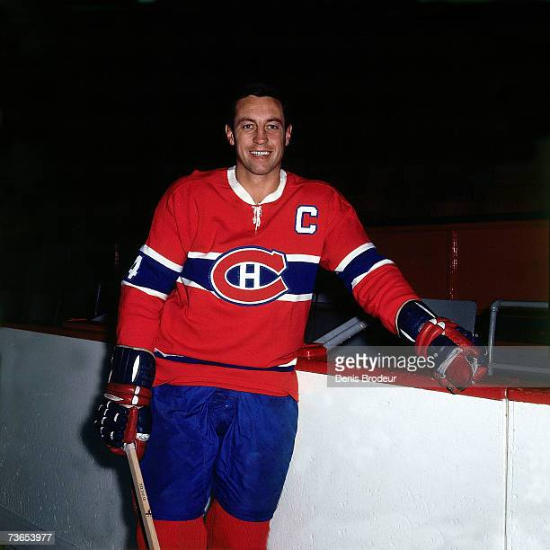 Jean Beliveau of the Montreal Canadiens poses for a photo.