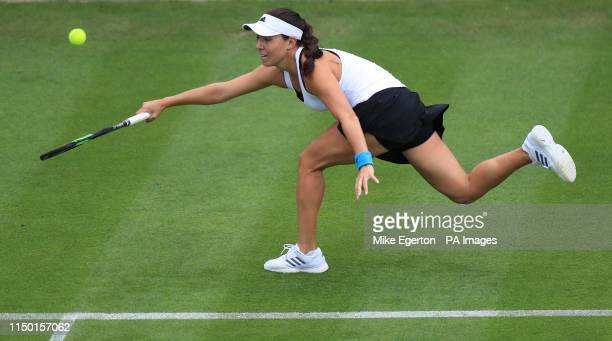USA's Jessica Pegula in action against India's Ankita Raina during day one of the Nature Valley Classic at Edgbaston Priory Club Birmingham