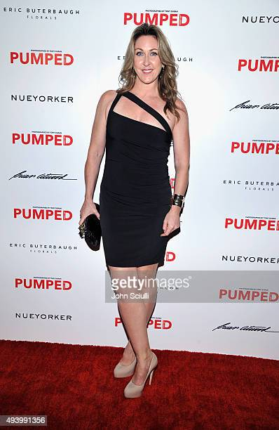 ESPN's Jill Montgomery attends Brian Atwood's Celebration of PUMPED hosted by Melissa McCarthy and Eric Buterbaugh on October 23 2015 in Los Angeles...
