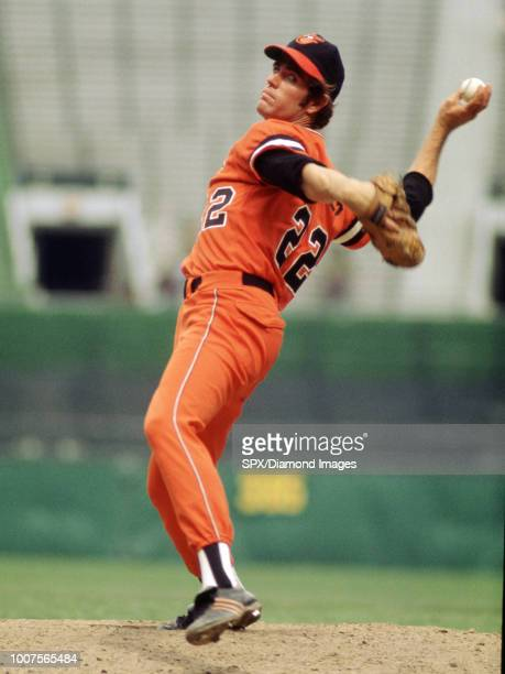 CIRCA 1970's Jim Palmer Baltimore Orioles pitching during a game from his career with the Baltimore Orioles Jim Palmer played for 19 years all with...