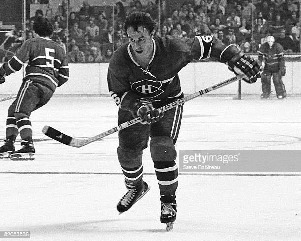 BOSTON MA 1970's Jim Roberts of the Montreal Canadiens skates in game against the Boston Bruins at the Boston Garden
