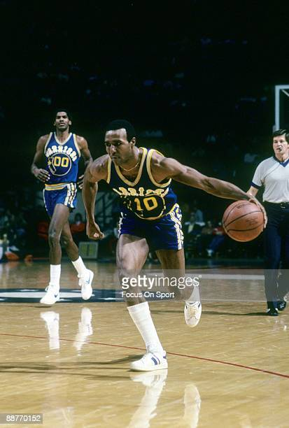 BALTIMORE MD CIRCA 1970's Jo Jo White of the Golden State Warriors in action bringing the ball up court against the Washington Bullets during a late...