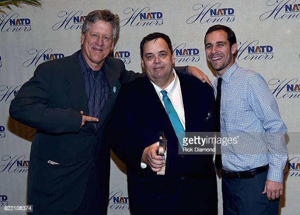CAA's John Huie Honoree Mike Smardak Outback Concerts and Andrew Farwell of Outback Concerts attend the 2016 NATD Honors Gala at the Hermitage Hotel...