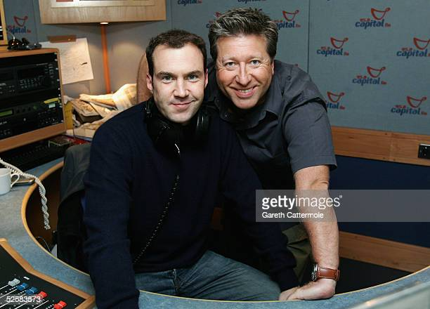 DJ's Johnny Vaughn and Dr Fox unite to broadcast this year's Capital Radio Help A London Child Appeal at Capital FM Leicester Square on April 3 2005...