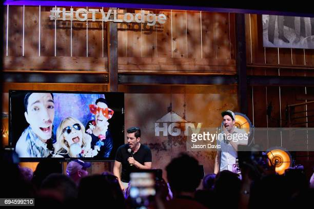 HGTV's Jonathan Scott and Drew Scott perform onstage at the HGTV Lodge during CMA Music Fest on June 10 2017 in Nashville Tennessee