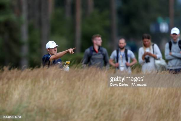USA's Jordan Spieth during preview day three of The Open Championship 2018 at Carnoustie Golf Links Angus
