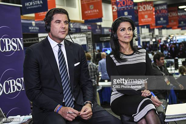 CBSN's Josh Elliott and Reena Ninan anchor live coverage from Hofstra University for the first presidential debate on Sept 26 2016