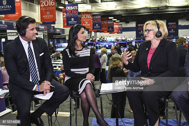CBSN's Josh Elliott and Reena Ninan interview Sen Claire McCaskill during live coverage from Hofstra University for the first presidential debate on...