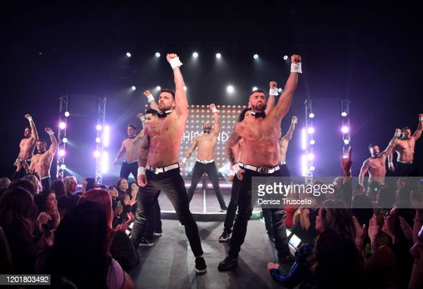 MTV's Joss Mooney and Rogan O'Connor perform at Chippendales at Rio AllSuite Hotel Casino on January 24 2020 in Las Vegas Nevada